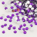 Jewel Embellishments, Resin, Royal purple, Faceted Rounds, 2mm x 2mm x 0.8mm, 300  pieces, (ZSS056)